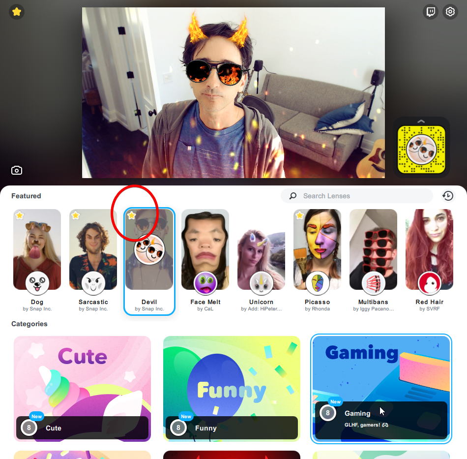 Snap Camera Favorites for Social Booth Photo Booth Software