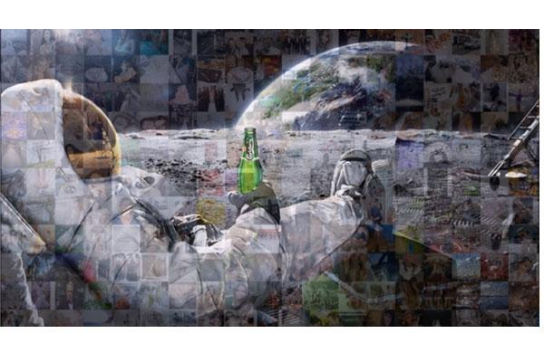 Hashtag Mosaic Display